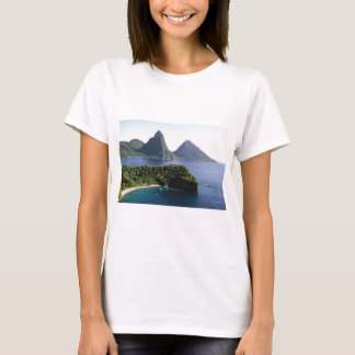 st_lucia_pitons_and_caribbean_sea T-Shirt
