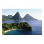 st_lucia_pitons_and_caribbean_sea tarjetas postales