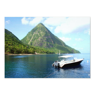 St Lucia Pitons Card