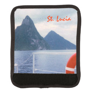 St Lucia Pitons Luggage Handle Wrap