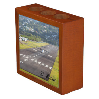 St. Lucia Plane and Airstrip photo Desk Organizers