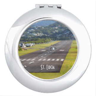 St. Lucia Plane and Airstrip photo Makeup Mirrors