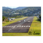 St. Lucia Plane and Airstrip photo Post Cards