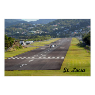 St. Lucia Plane and Airstrip photo Poster