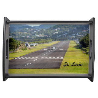 St. Lucia Plane and Airstrip photo Service Tray