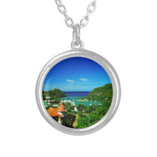 St. Lucia Silver Plated Necklace