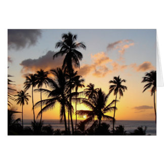 St lucia sunset 03 greeting card