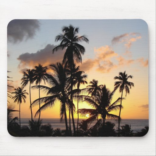 St lucia sunset 03 mouse pad