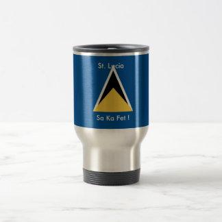 St Lucia, taza de café del Fete de ka del Sa
