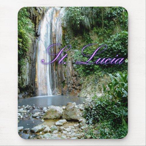 St Lucia Waterfall Mousepads