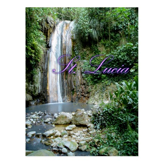 St Lucia Waterfall Postcard