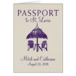 St. Lucia Wedding Passport Invitation