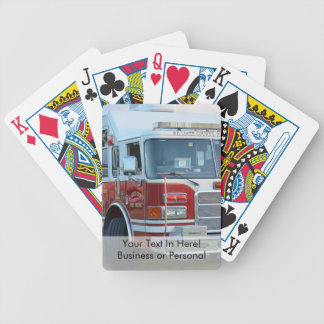 st lucie county firetruck front end fire truck bicycle playing cards
