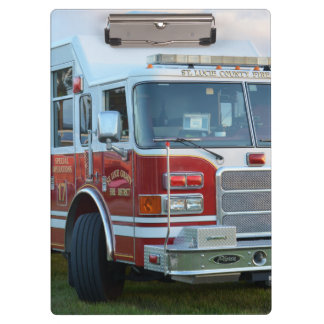st lucie county firetruck front end fire truck clipboard