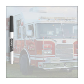 st lucie county firetruck front end fire truck Dry-Erase whiteboard