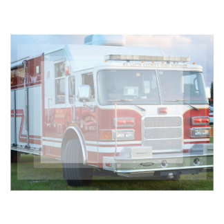 st lucie county firetruck front end fire truck customized letterhead
