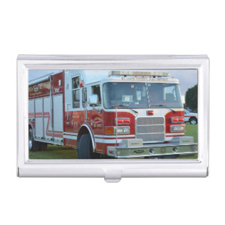 st lucie county firetruck front end fire truck business card case