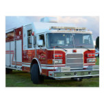 st lucie county firetruck front end fire truck post card