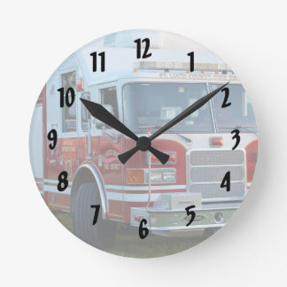 st lucie county firetruck front end fire truck round clock