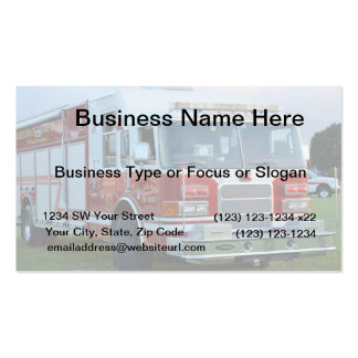 st lucie county firetruck front end fire truck business card