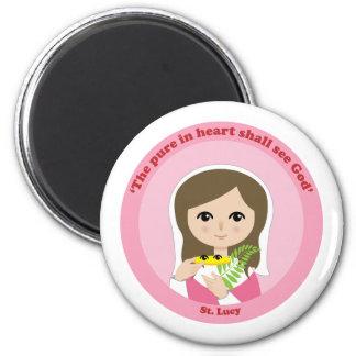 St. Lucy 2 Inch Round Magnet