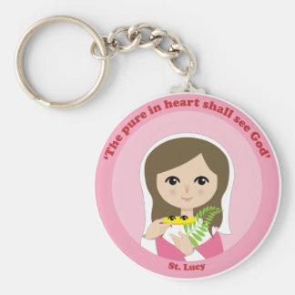 St. Lucy Basic Round Button Keychain