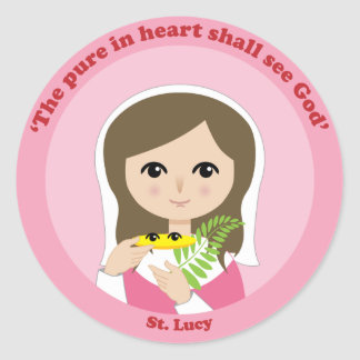 St. Lucy Classic Round Sticker
