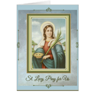St. Lucy|Lucia Patron Saint of the Eyes Card
