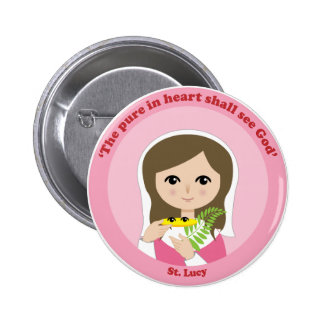 St. Lucy Pinback Button