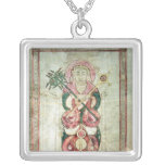St. Luke and his winged calf Silver Plated Necklace