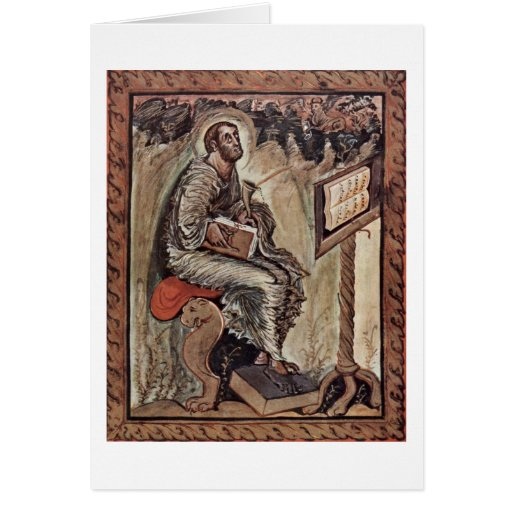 St.Luke By Master Of The New Court School Cards