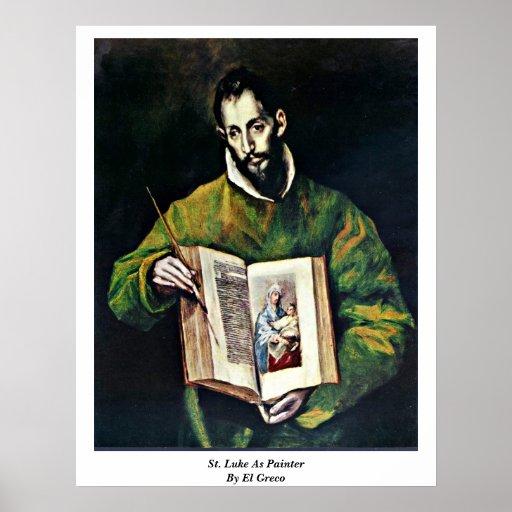 St Luke como pintor de El Greco Impresiones