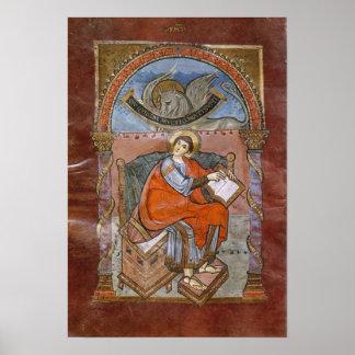 St Luke, del evangelio de St. Riquier Poster