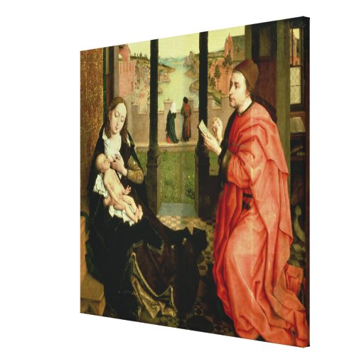St. Luke Drawing a Portrait of the Virgin Gallery Wrapped Canvas