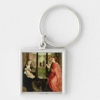 St. Luke Drawing a Portrait of the Virgin Keychain