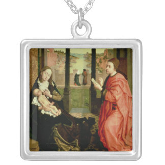 St. Luke Drawing a Portrait of the Virgin Silver Plated Necklace