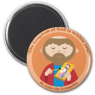 St Luke el evangelista Imán Redondo 5 Cm