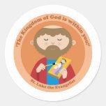 St Luke el evangelista Pegatina Redonda