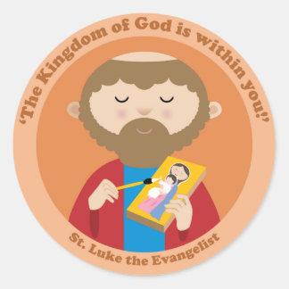 St Luke el evangelista Pegatinas Redondas