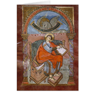 St. Luke, from the Gospel of St. Riquier Card