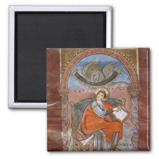 St. Luke, from the Gospel of St. Riquier Fridge Magnet