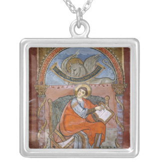 St. Luke, from the Gospel of St. Riquier Square Pendant Necklace