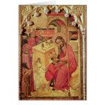 St. Luke Operating on a Man's Head, c.1400-30 Card