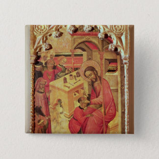 St. Luke Operating on a Man's Head, c.1400-30 Pinback Button