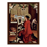 St. Luke Painting The Madonna Altar Wings Post Card