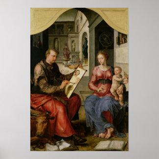 St. Luke Painting the Virgin, c.1545 Poster