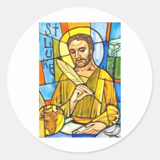 St Luke Pegatina Redonda