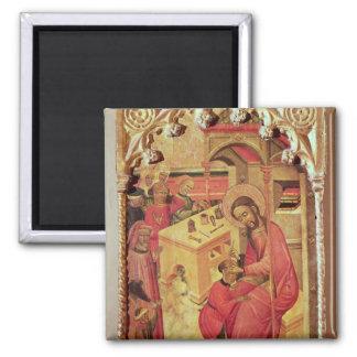 St Luke que actúa en la cabeza de un hombre, c.140 Imán