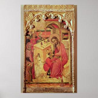 St Luke que actúa en la cabeza de un hombre, c.140 Póster