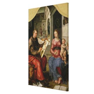 St Luke que pinta a la Virgen, c.1545 Lienzo Envuelto Para Galerias